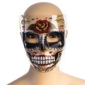 Day of the Dead Party Wear Day of the Dead Rose Mask Image