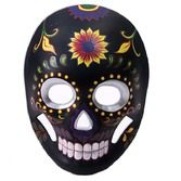 Day of the Dead Party Wear Black Sugar Skull Mask Image