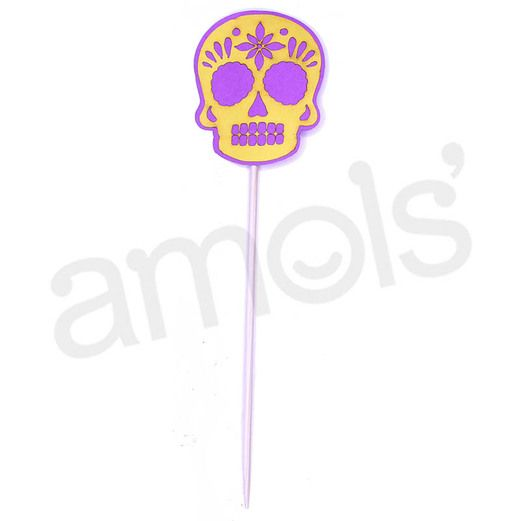 Day of the Dead Decorations Neon Skull Picks  Image