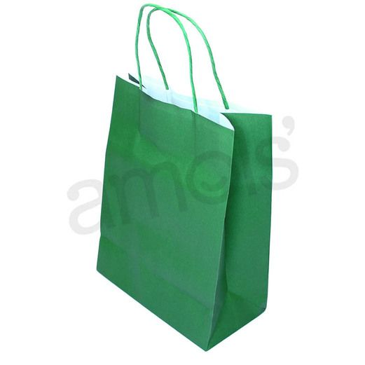 St. Patrick's Day Gift Bags & Paper Medium Green Gift Bag Image