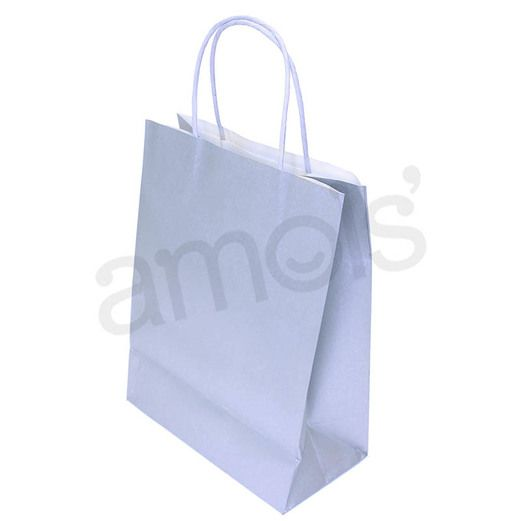 Gift Bags & Paper Medium Silver Gift Bag  Image
