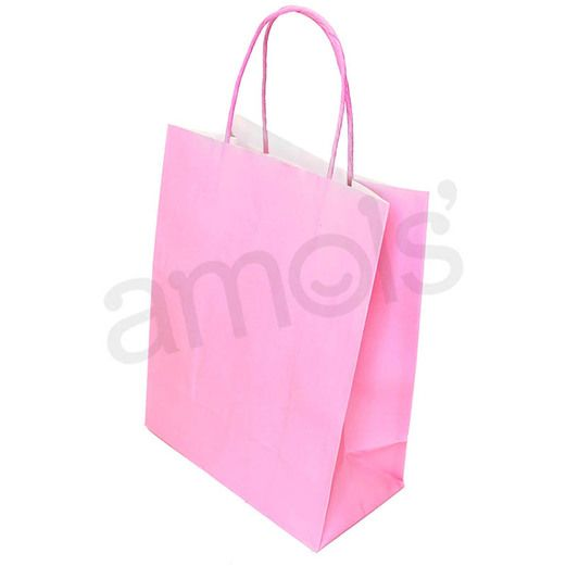 Baby Shower Gift Bags & Paper Medium Pink Gift Bag Image