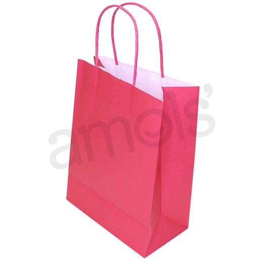 Valentine's Day Gift Bags & Paper Medium Cerise Gift Bag Image