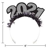 New Years Hats & Headwear 2021 Glittered Tiara Image