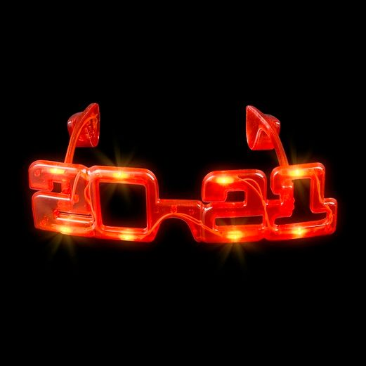 New Years Favors & Prizes 2021 Multicolor LED Flashing Glasses Image