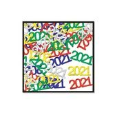 New Years Decorations 2021 Metallic Confetti Image