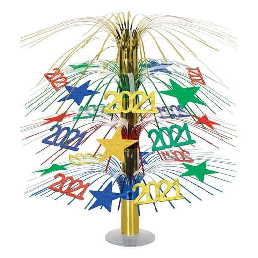 New Years Decorations 2021 Cascade Centerpiece Image