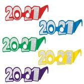 New Years Party Wear 2021 Foil Glittered Glasses (50 pack) Image
