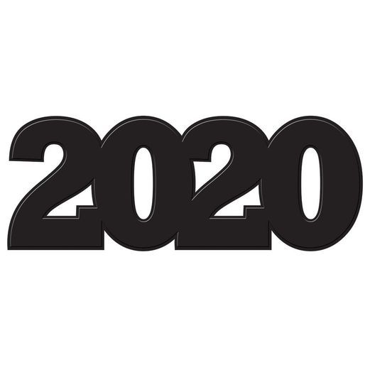 Decorations  2020 Black Cutout Image