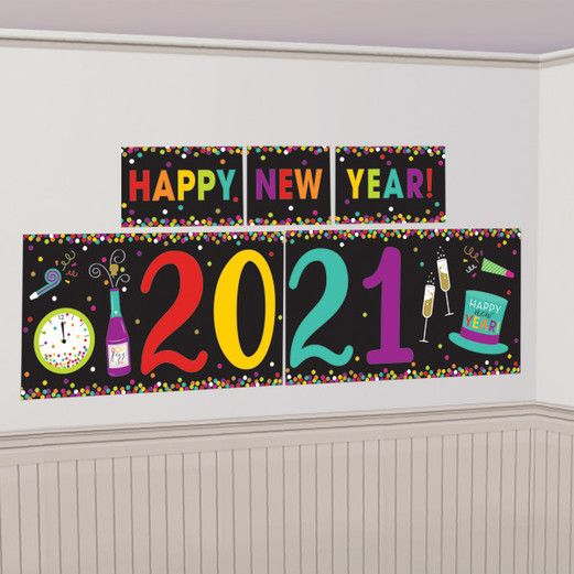 New Years Decorations 2021 New Year Multicolor Backdrop Image