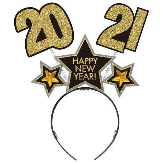 New Years Hats & Headwear 2021 Happy New Year Bopper Image