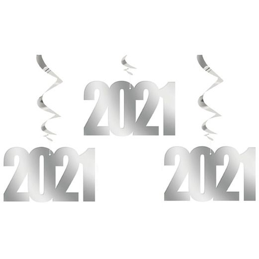 New Years Decorations 2021 Hanging Swirls Image