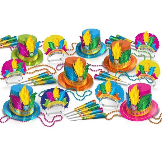 New Years Party Kits Rio Assortment for 50 Image