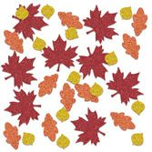 Thanksgiving Decorations Fall Leaf Sparkle Confetti Image