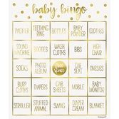 Baby Shower Favors & Prizes Gold Baby Shower Bingo Game Image