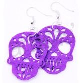 Day of the Dead Party Wear Skull Picado Earrings Image