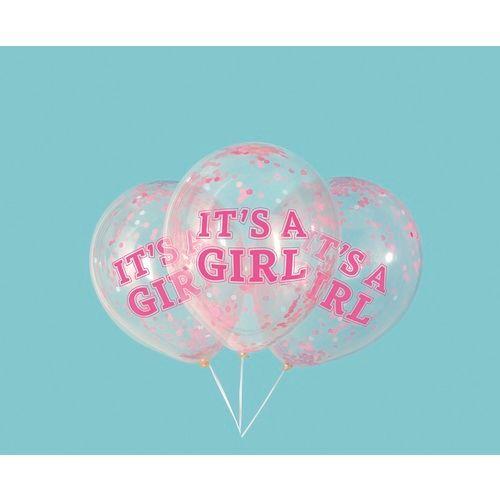 "12""Girl Confetti Filled Balloon"