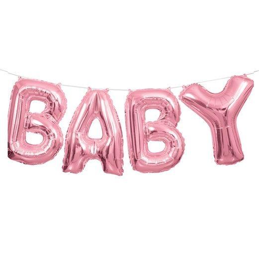 Balloons / Mylar Pink Baby Balloon Kit Image