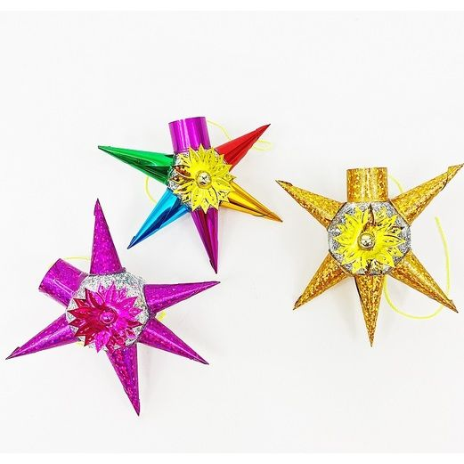 Glittered Small Star Ornament