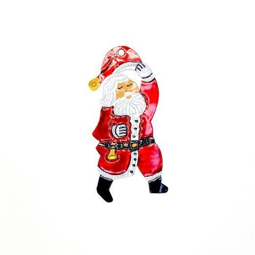 Decorations Santa Claus Tin Ornament Image