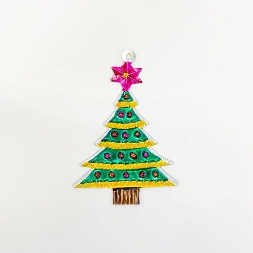 Christmas Star Tree Tin Ornament