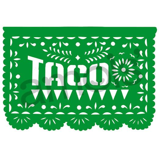 Cinco de Mayo Decorations Beer Taco Fiesta Paper Picado Image