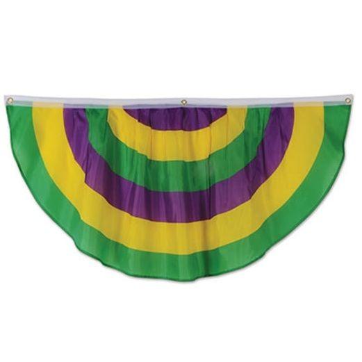 Mardi Gras Fabric Bunting
