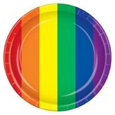 Pride Table Accessories Rainbow Dinner Plates Image