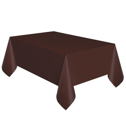 Rectangular Table Cover Brown