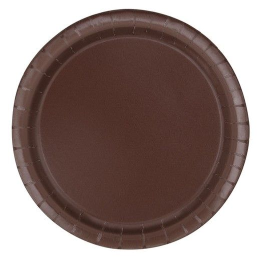 Brown 9 Inch Paper Plates