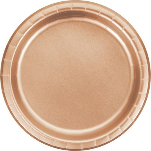 """Rose Gold 9"""" Plate"""