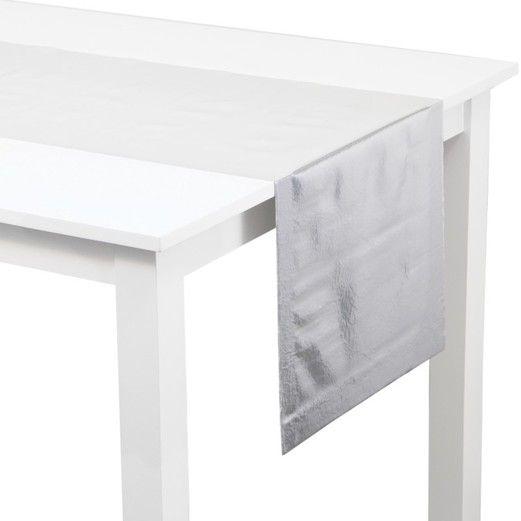 Silver Metallic Table Runner