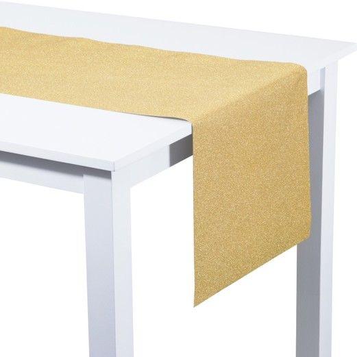 Gold Glitter Table Runner