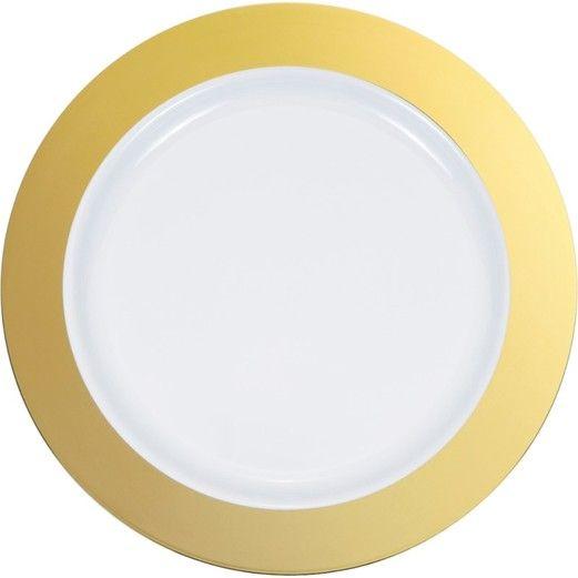 "Gold Rim 9"" Plate 10pk"