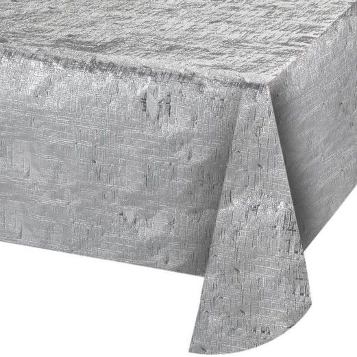 Silver Metallic Table Cover