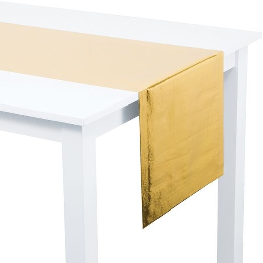 Gold Metallic Table Runner
