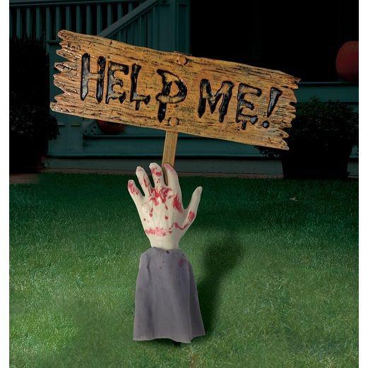 Zombie Arm Yard Sign