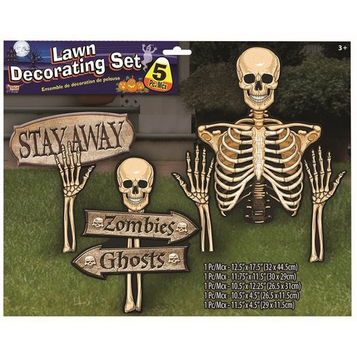 Skeleton Lawn Set