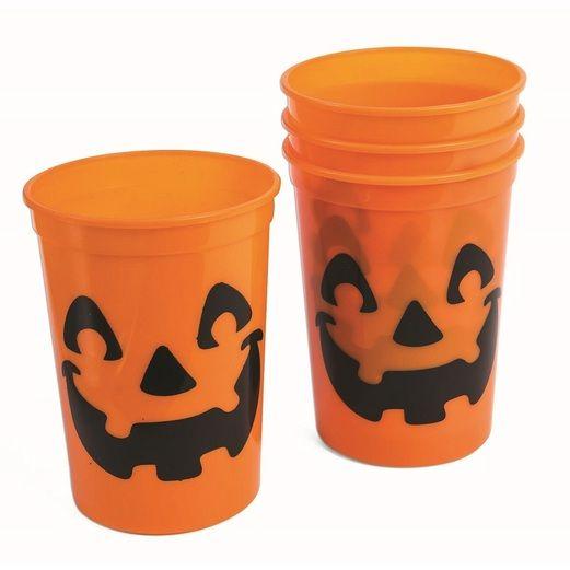 Pumpkin Plastic Cups