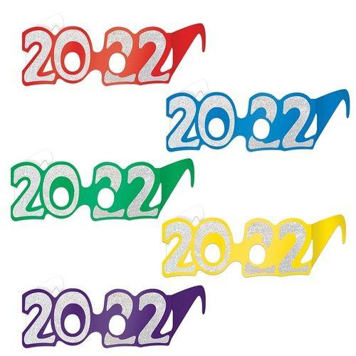 2022 Foil Glittered Glasses (50 pack)