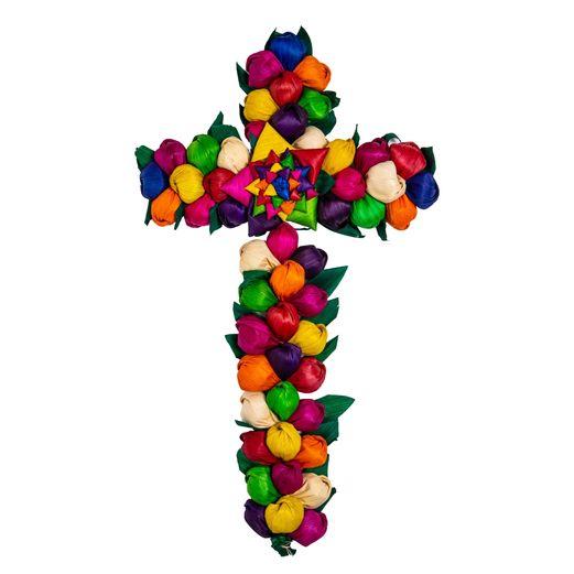 Cornhusk Flower Cross