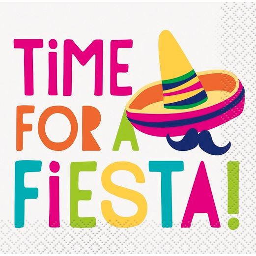 Time for a Fiesta Beverage Napkins