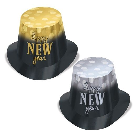 New Year Lights Top Hats (25 pack)